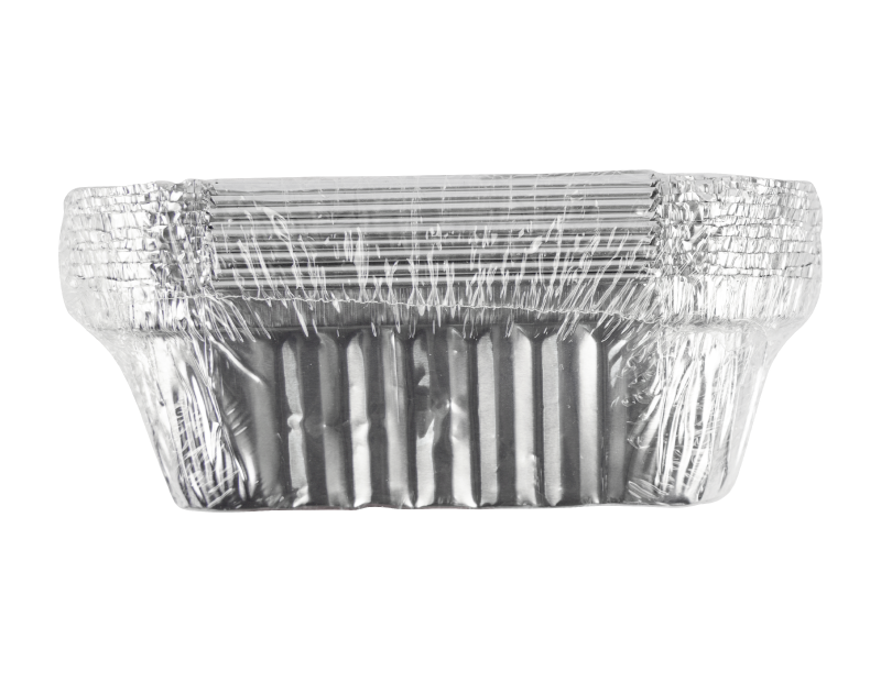 Medium Foil Containers & Lids - 10 Pack