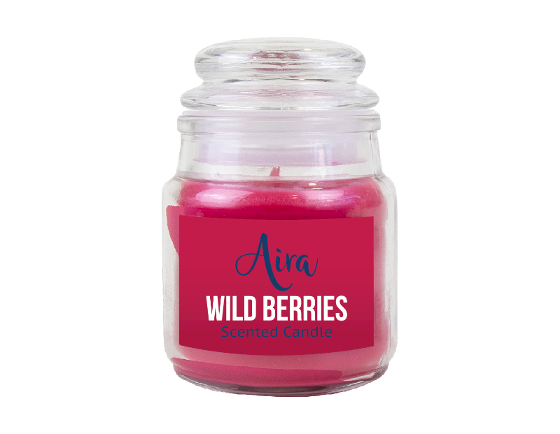 Scented Candle in Glass Jar & Lid