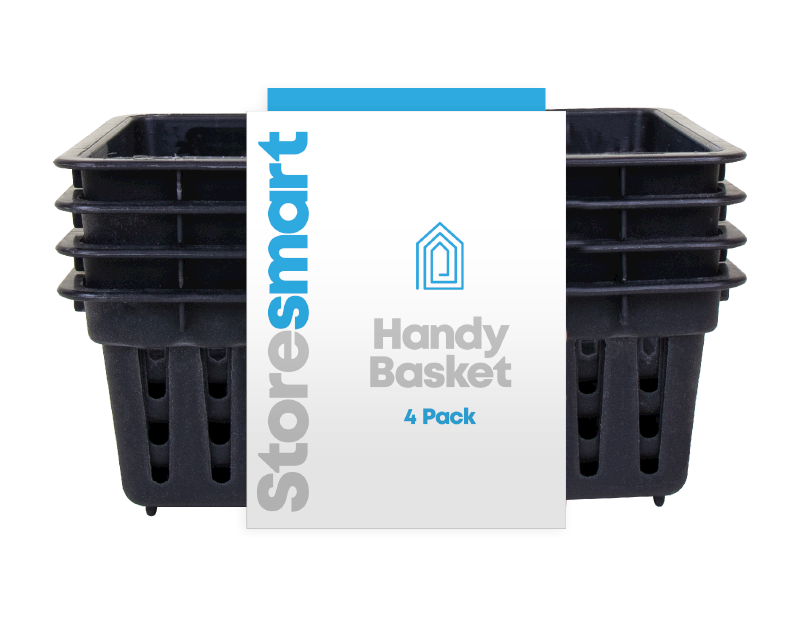 Plastic Handy Basket - 4 Pack