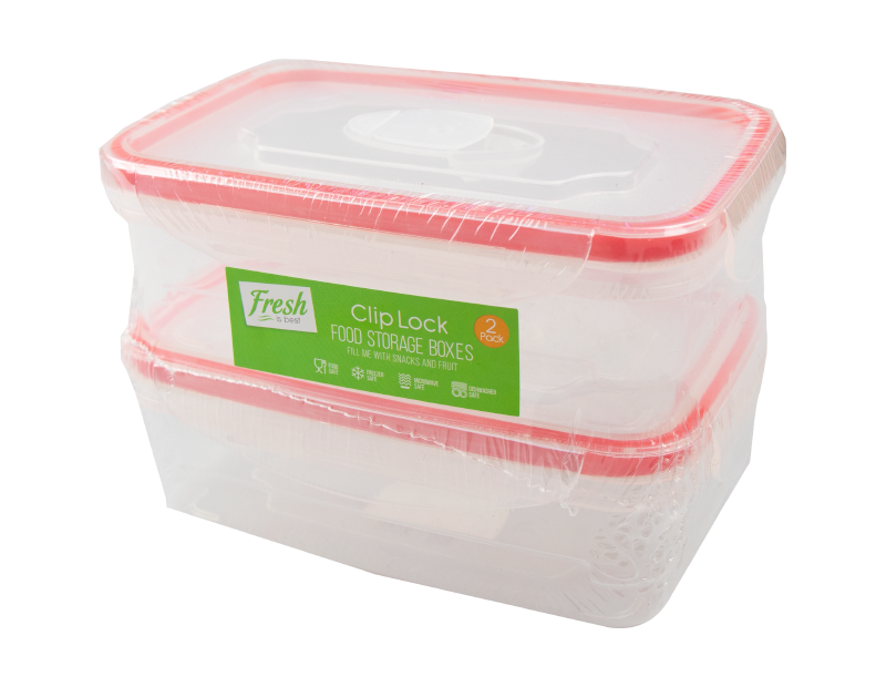 Clip Lock Container 450ml - 2 Pack