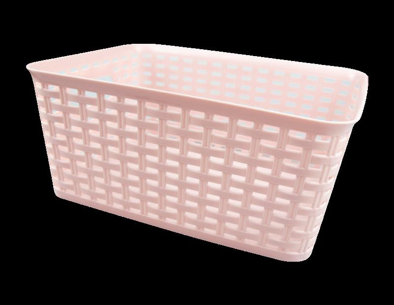 Plastic Rattan Effect Storage Basket - Trend