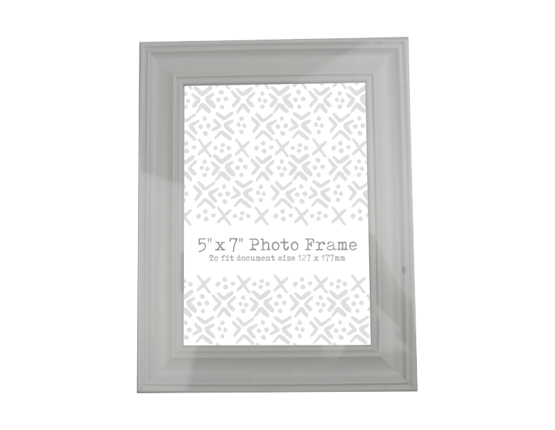 "Plastic Photo Frame 5"" x 7"" With PDQ"