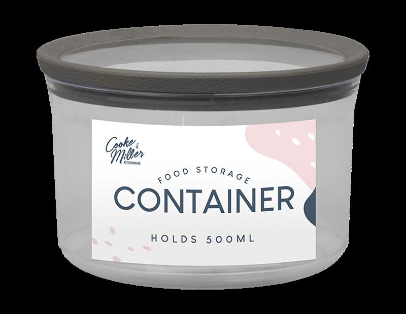 PS Round Storage Container 500ml - Trend