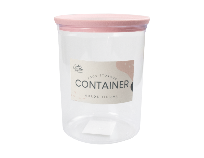 PS Round Storage Container 1100ml - Trend