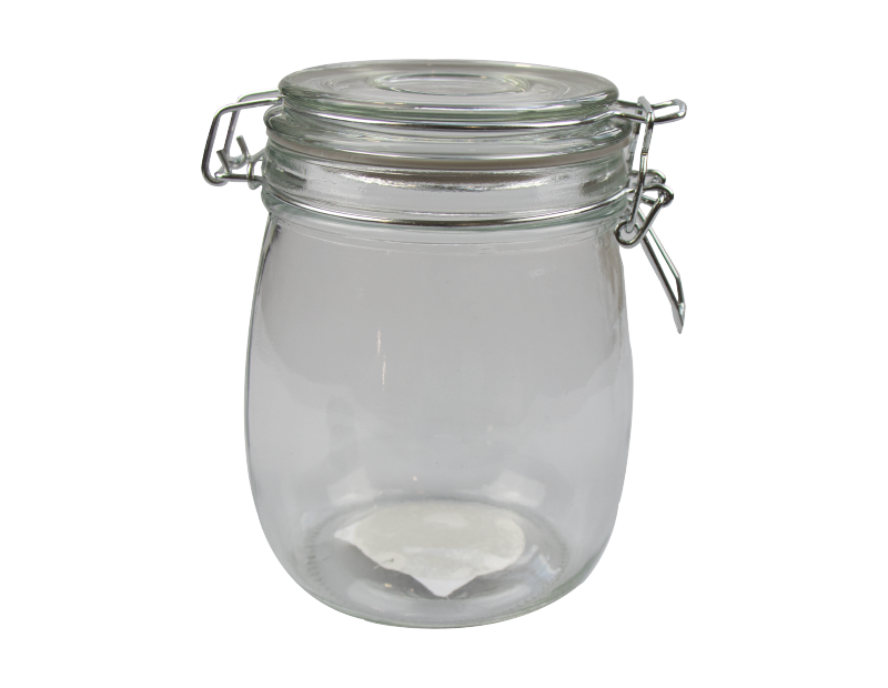 Glass Jar with Clip Top Lid 770ml - Trend