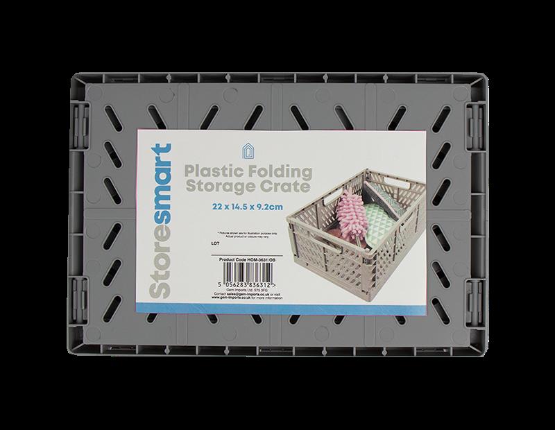 Plastic Folding Storage Crate Small - Trend