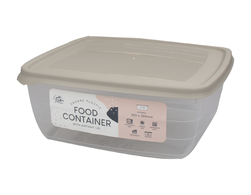 Plastic Food Container 2 Litre - Trend