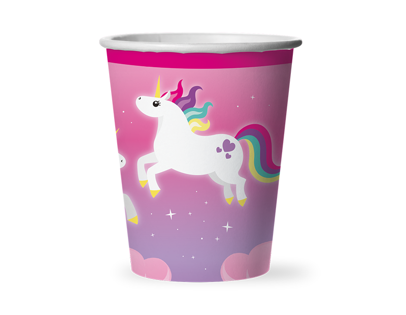 Unicorn Disposable Paper Cups - 12 Pack