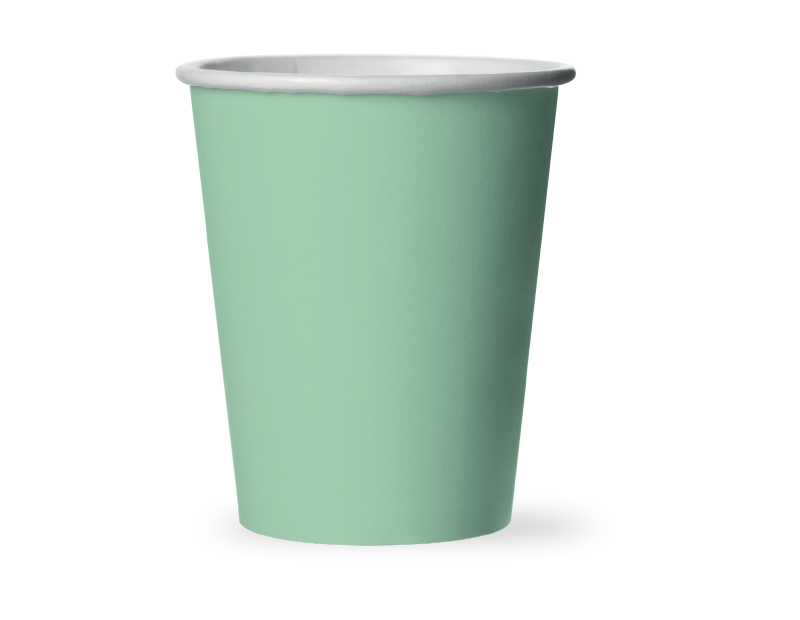Pastel Disposable Paper Cups - 15 Pack (With PDQ)