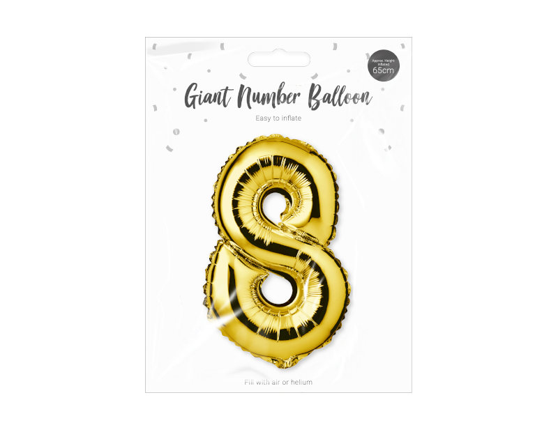 Gold Foil Number Balloon 65cm