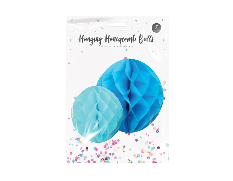 Hanging Honeycomb Balls - 2 Pack