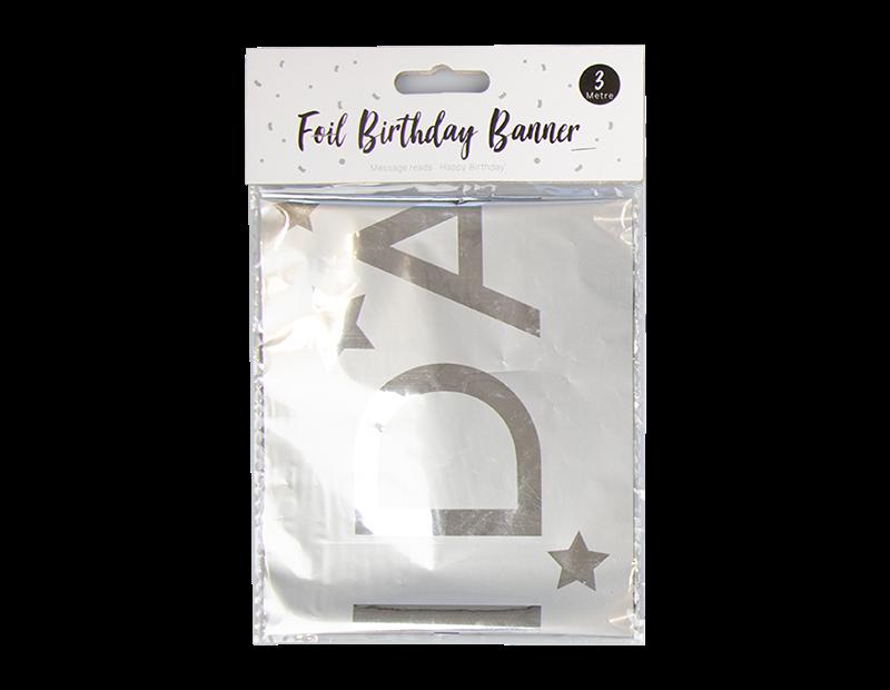 Bright Foil Happy Birthday Banner 3m