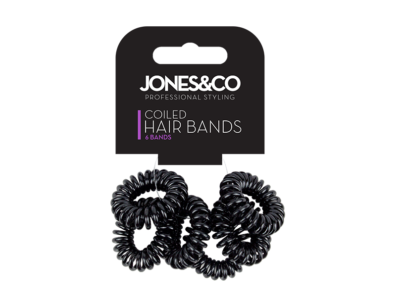 Coiled Hair Bands - 6 Pack