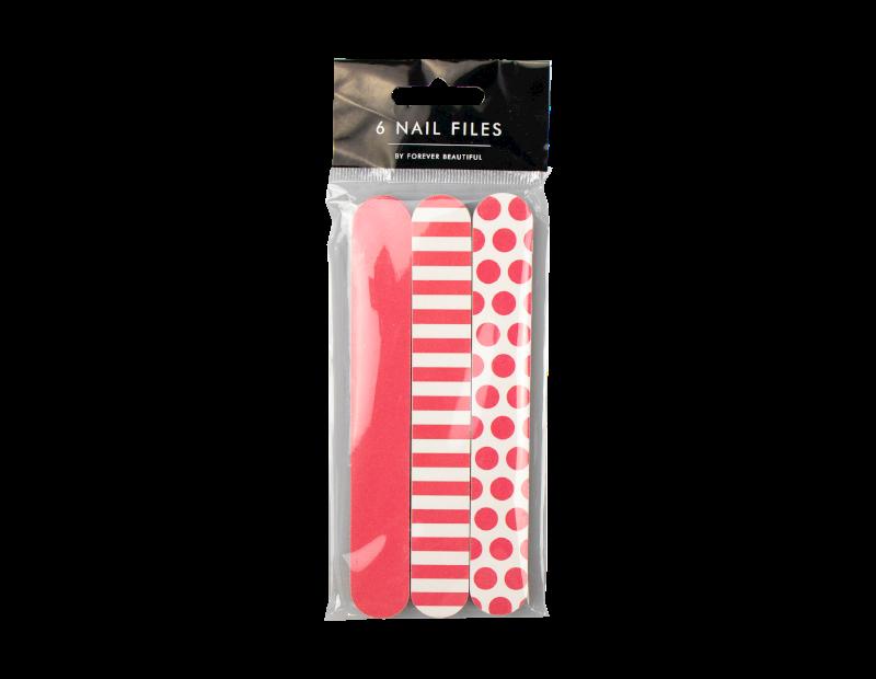 Printed Mini Nail Files - 6 Pack