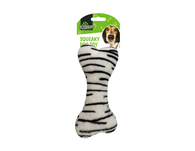 Animal Print Squeaky Dog Toy