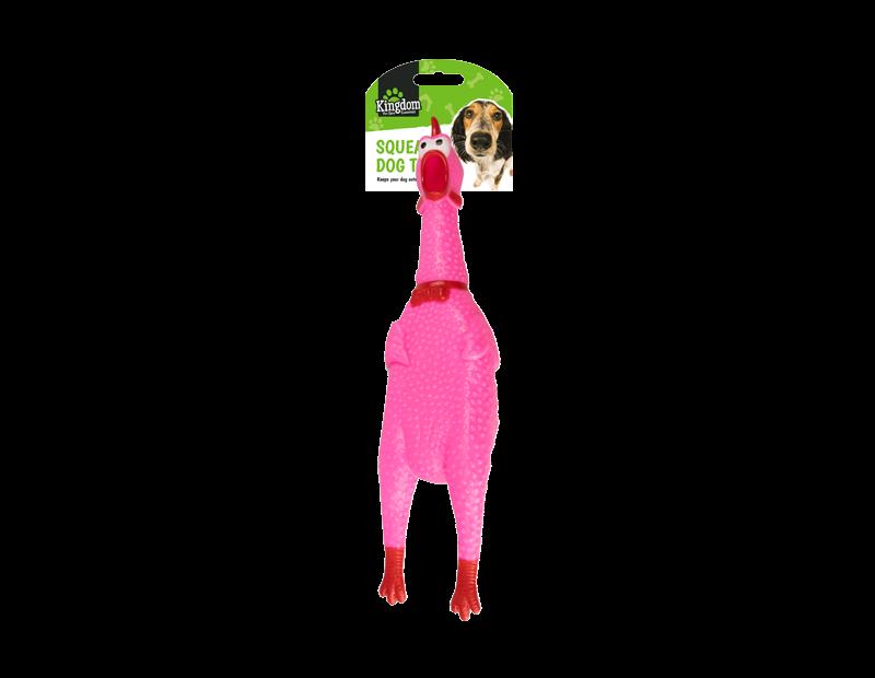 Squeaky Chicken Dog Toy