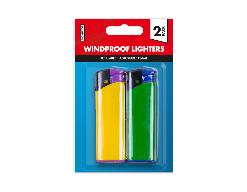 Windproof Lighters - 2 Pack