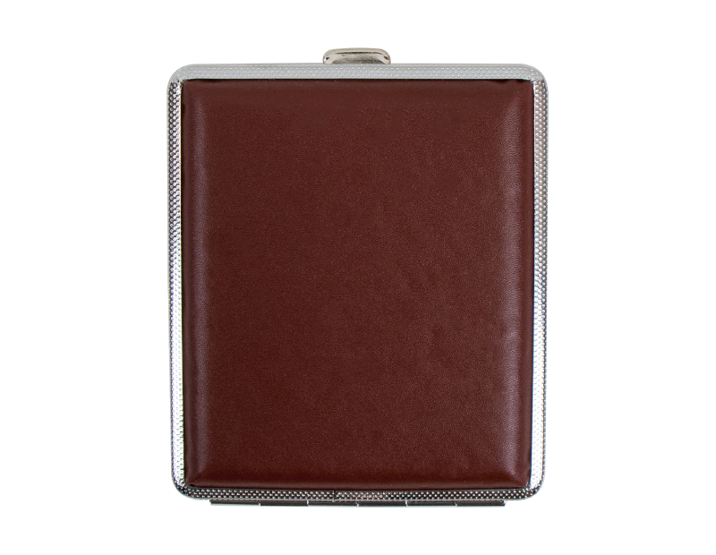 Faux Leather Cigarette Case With PDQ