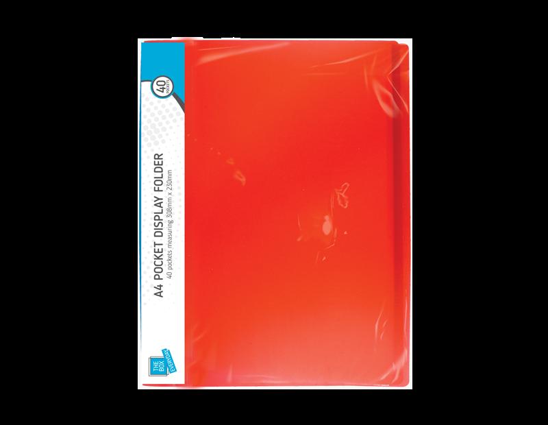 A4 Pocket Display Folder - 40 Pocket