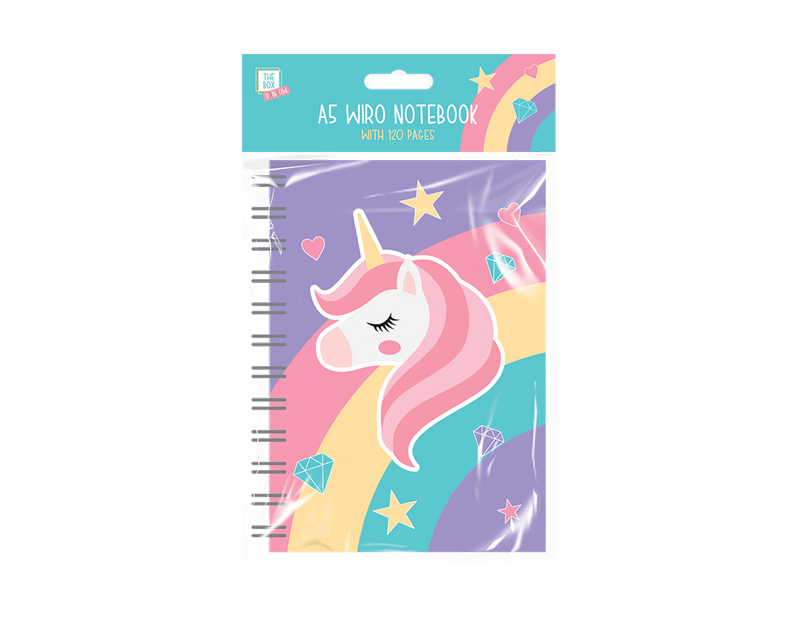 Kids A5 Rainbow Notebook