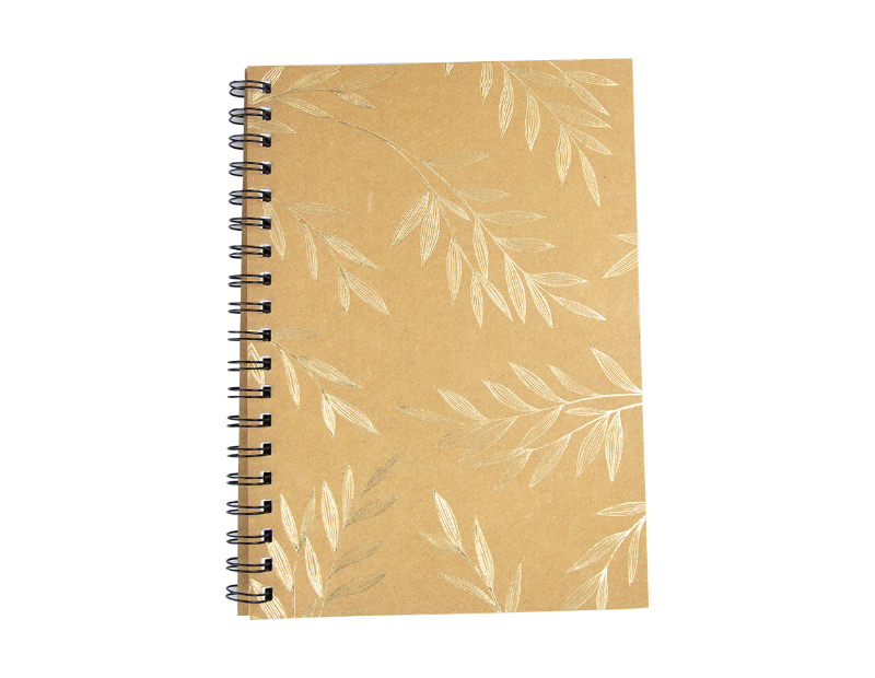 Foil Kraft Wiro Notebook With PDQ