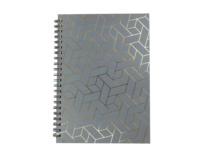A4 Foil Wiro Notebook With PDQ