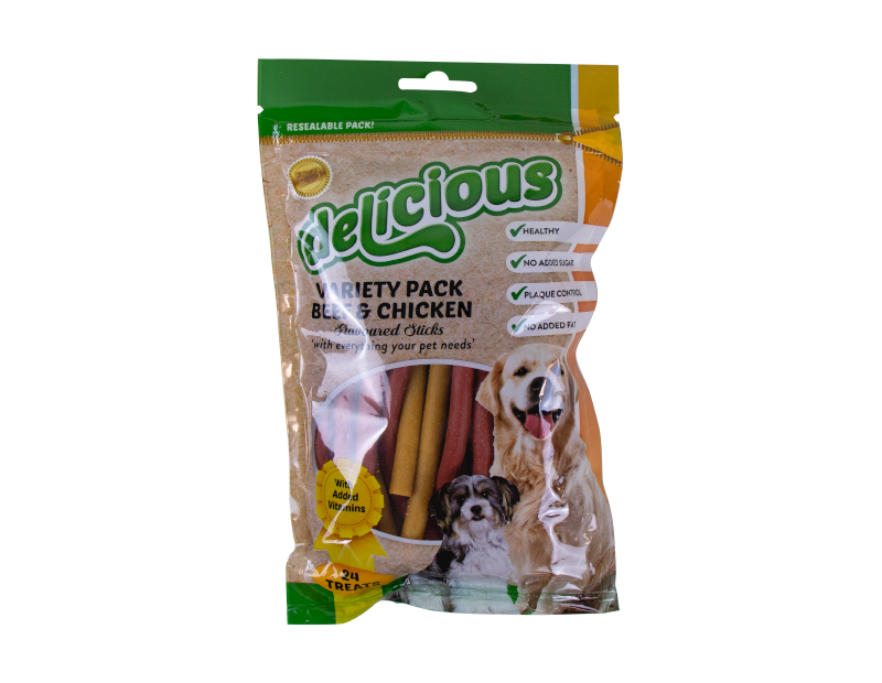Natural Mixed Sticks - 24 Pack (With PDQ)