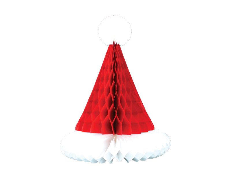 Christmas Honeycomb Santa Hat Decoration