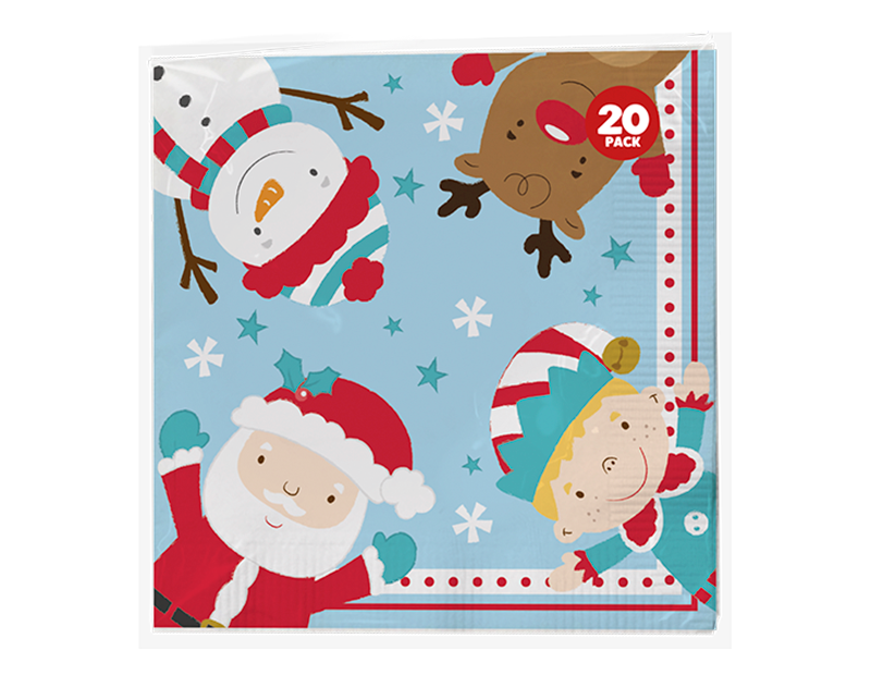 Christmas 3 Ply Napkins - 20 Pack (With PDQ)