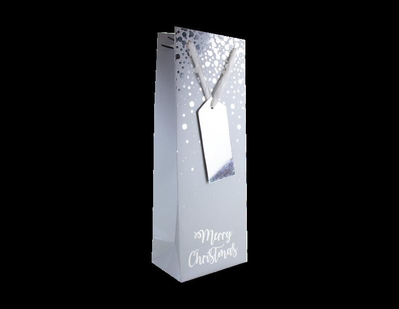Christmas Luxury Foiled Bottle Bag