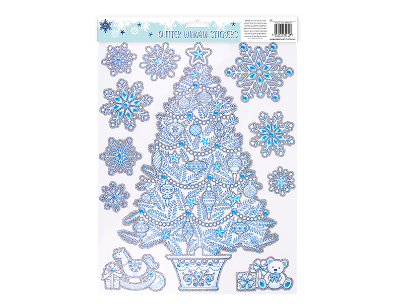 Christmas Glitter Window Stickers
