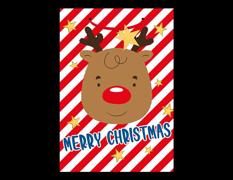Super Jumbo Portrait Christmas Gift Bag With PDQ
