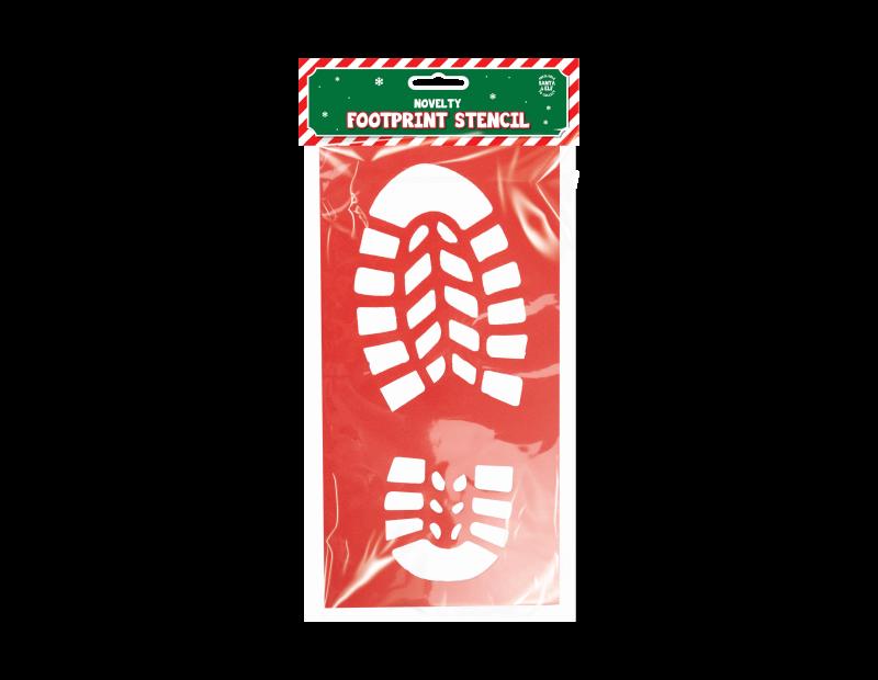 Santa Footprint Stencil