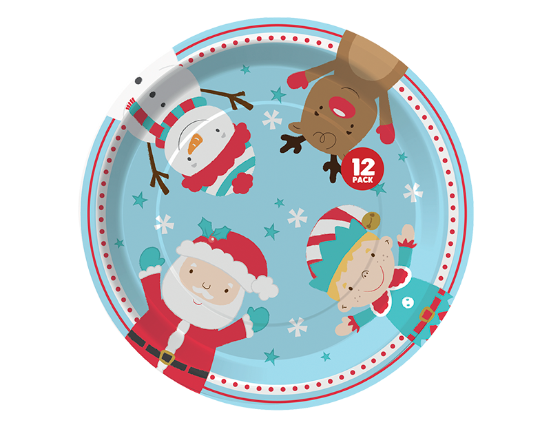 Christmas Paper Plates - 12 Pack (With PDQ)