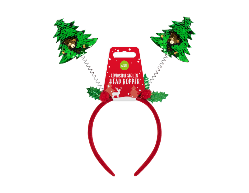 Reversible Sequin Christmas Head Boppers