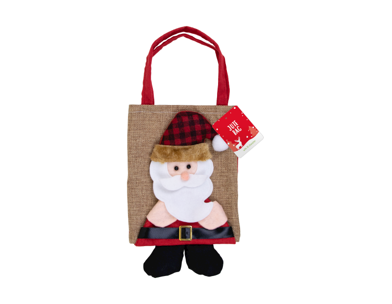 Christmas Jute Bag with 3D Character