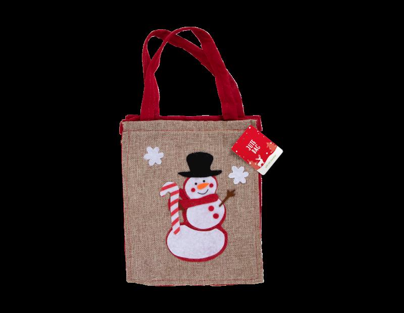 Christmas Jute Bag With Felt Character