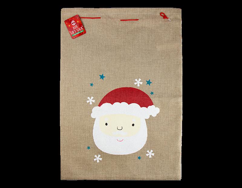 Christmas Jute Gift Sack 20cm x 32cm