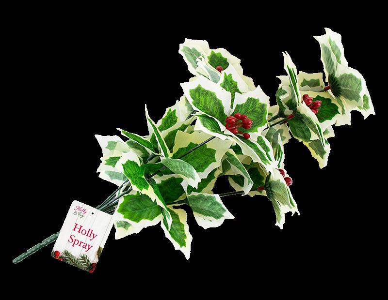 Decorative Christmas Holly Spray