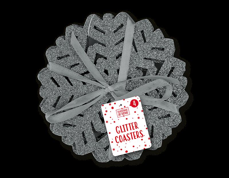 Glitter Felt Coasters 4 Pack