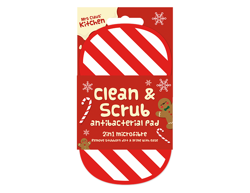 Christmas 2 in 1 Antibacterial Scrubbing Pad