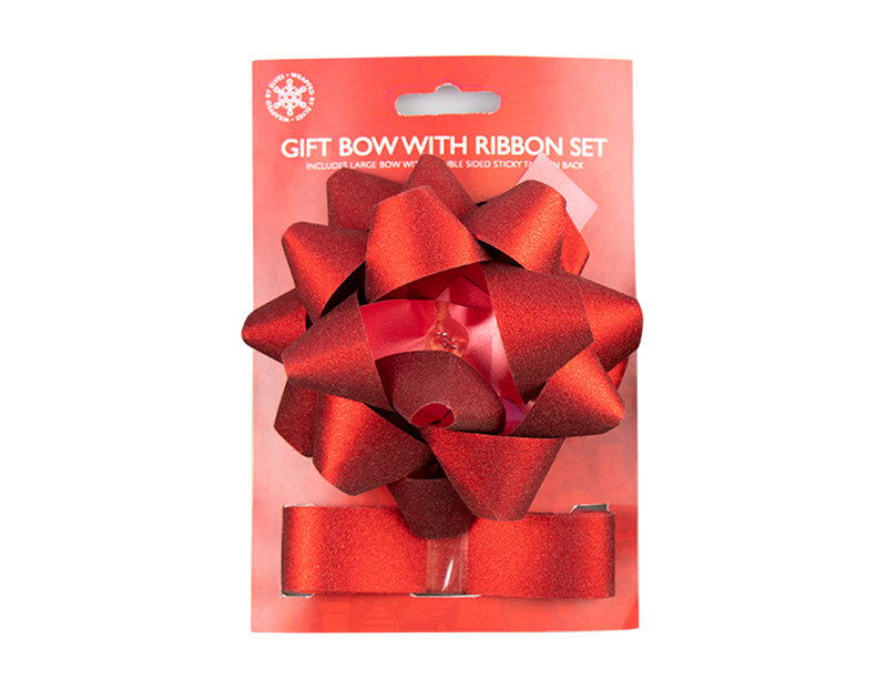 Gift Bow With Ribbon Set