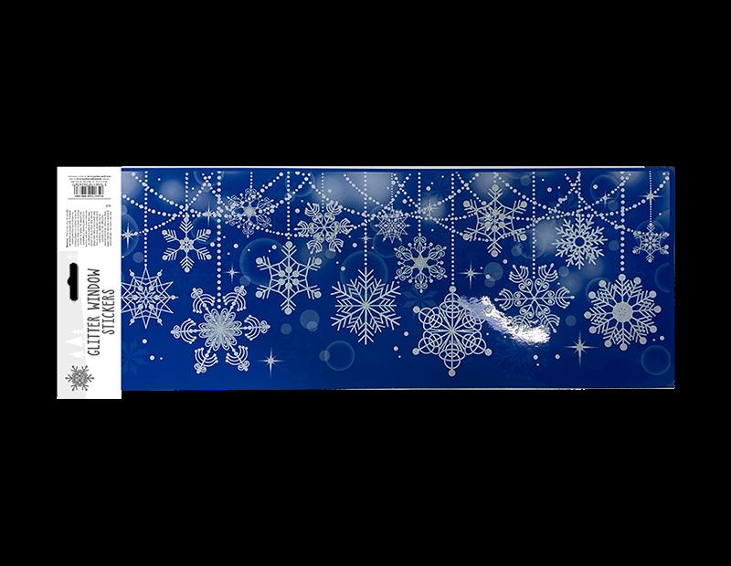 Xmas Glitter Window Decoration Stickers