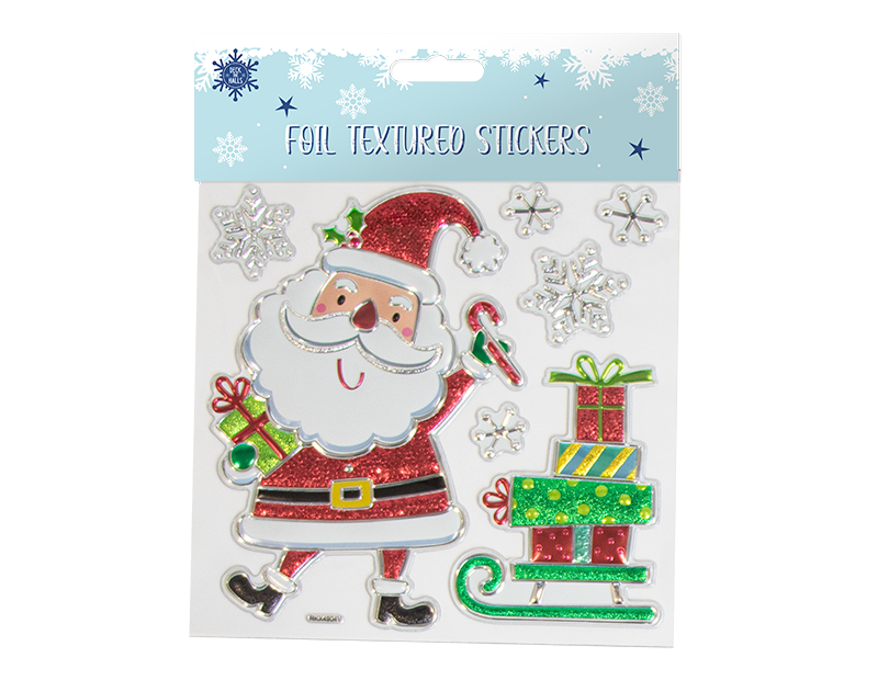 Xmas Foil Textured Wall Stickers