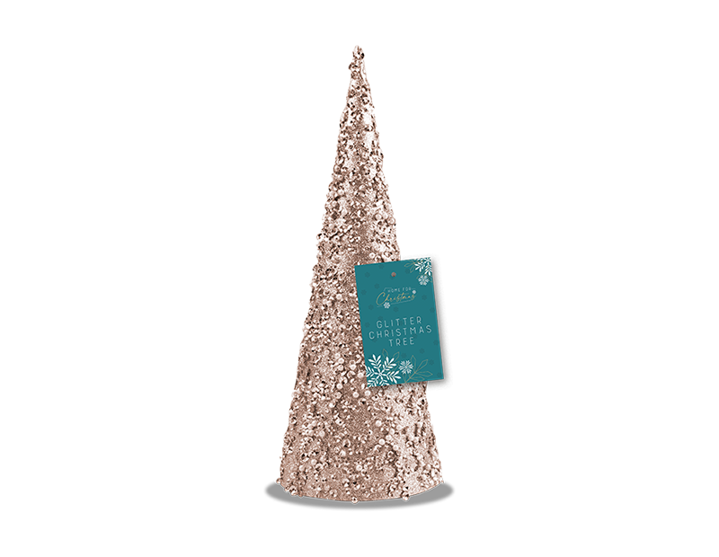 Glitter/Pearl Christmas Tree Ornament 25cm