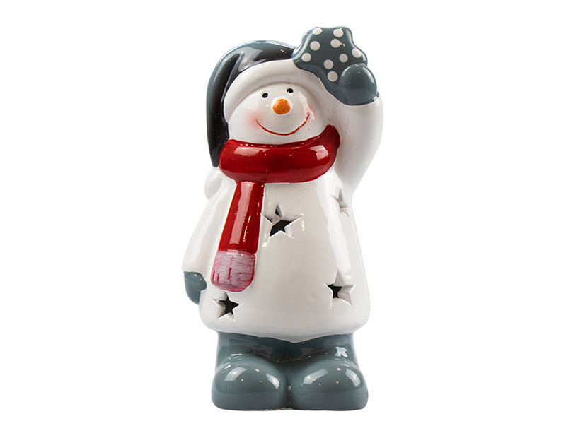 Ceramic Christmas Character LED Ornament