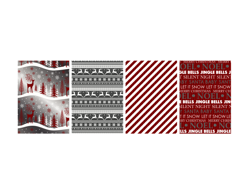 Christmas Foil Wrapping Paper 3m