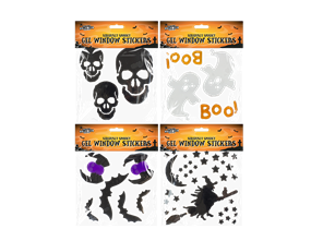 Assorted Halloween Gel Window Stickers