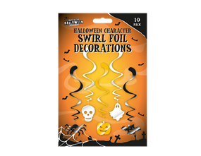 Halloween Foil Swirl Decoration