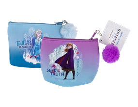 Wholesale Frozen ll Pom Pom Make Up Bags | Gem Imports Ltd